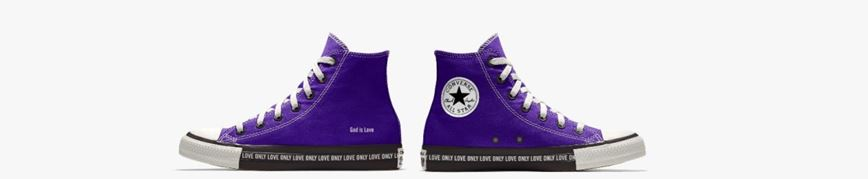 Purple High-Top Chucks